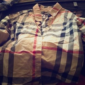 Boys Size 4 Years Old Burberry Button Up Shirt